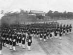 Japanese naval infantrymen at the Imperial Palace, Tokyo, Japan, date unknown