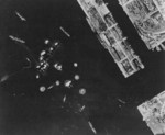 Takao (now Kaohsiung) harbor under US aerial attack, Taiwan, 17 Nov 1944, photo 1 of 5