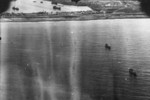 View of Toshien harbor (now Zuoying harbor), Takao (now Kaohsiung), Taiwan, 12 Oct 1944, photo 1 of 2; photo taken by aircraft of USS Enterprise