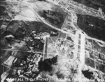 Shinchiku Airfield under US Navy carrier aircraft attack, Taiwan, 12 Oct 1944, photo 2 of 2