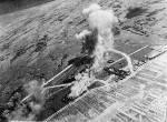Shoka Airfield in Shoka (now Changhua), Taiwan under US Navy carrier aircraft attack, 12 Oct 1944, photo 1 of 2
