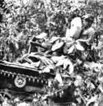 Japanese type 97 Te-Ke tankette during Battle of Muar, Johor, Unfederated Malay States, mid-Jan 1942