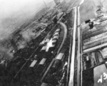 Kagi butanol plant under attack by PV-1 aircraft of US Navy squadron VPB-137, Kagi (now Chiayi), Taiwan, 3 Apr 1945, photo 1 of 2