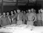 Men of US 24th Marine Regiment celebrating the birthday of the US Marine Corps, Maui, US Territory of Hawaii, 10 Nov 1944