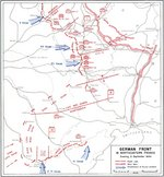 Map depicting the German front in Northeastern France, 5 Sep 1944