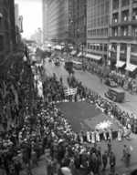 6,000 Chinese-Americans protesting the Japanese invasion of northeastern China, Chicago, Illinois, United States, 2 Jun 1938