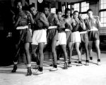 African-American boxers of US Naval Training Station, Great Lakes, Illinois, United States, 3 Mar 1943