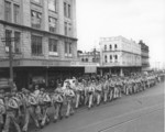 US Marines marching through Auckland, New Zealand, 1943