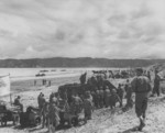 Men of US 8th Marine Regiment during an amphibious landing exercise in Hawke