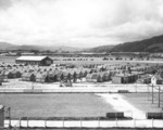 Enlisted US Marines quarters at the military camp on the grounds of the Horse Trotters Club of Wellington, New Zealand, 1943