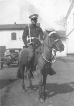 US Marine Byron Anderson on a horse in China, circa 1935