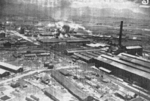 Kagi butanol plant under attack by B-25 bombers of 3rd Bombardment Group, USAAF 5th Air Force, Kagi (now Chiayi), Taiwan, 3 Apr 1945, photo 4 of 5