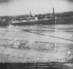 Nansei sugar plant under US air attack, Kagi (now Chiayi), Taiwan, 24 Apr 1945, photo 3 of 3