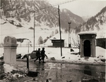 Two soldiers of US 7th Army about to cross from Austria into Italy at the Brenner Pass, 4 May 1945