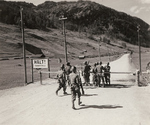 A patrol of 324th Infantry Regiment of US 44th Infantry Division meeting men of US 10th Mountain Division at the Reissa Pass on the Italo-Austrian border, 7 May 1945
