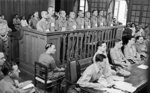 Accused Japanese war criminals on trial at the Supreme Court of Singapore, 21 Jan 1946, photo 3 of 3