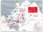 Map noting the operations of the Japanese Navy First Air Fleet/Carrier Striking Force, 7 Dec 1941-12 Mar 1942