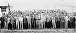 Group of 104 German rocket scientists, including Wernher von Braun and Arthur Rudolph, at Fort Bliss, Texas, United States, 1946