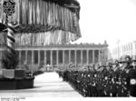 Nazi Party gathering outside the museum at Lustgarten, Berlin, Germany, 1 May 1936, photo 2 of 7