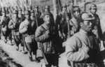 Chinese troops on the march near Nanchang, Jiangxi Province, China, Mar-Apr 1939