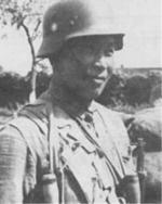 Chinese soldier in German-made helmet, date unknown