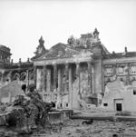 War damaged Reichstag building, Berlin, Germany, 3 Jun 1945