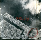 Aerial view of American bombing of Takao (now Kaohsiung), Taiwan, 1 Jun 1945, photo 3 of 4