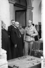 Gregorio Diamare and the ecclesiastical authorities of Monte Cassino abbey giving German Luftwaffe troops the permission to remove artwork for transfer to Germany, 4 Jan 1944, photo 1 of 2