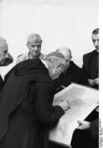 Gregorio Diamare and the ecclesiastical authorities of Monte Cassino abbey giving German Luftwaffe troops the permission to remove artwork for transfer to Germany, 4 Jan 1944, photo 2 of 2