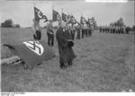 Nazi Party SA members in a field near Berlin, Germany, 1932