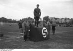 SA-Gruppenführer Karl Ernst speaking at a sports festival at Köpenick southeast of Berlin, Germany, 1932