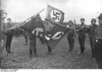 Nazi Party SA men on a parade ground in Britz, Berlin, Germany, 1932, photo 1 of 3