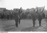 Nazi Party SA men on a parade ground in Britz, Berlin, Germany, 1932, photo 3 of 3