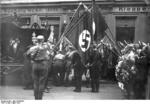 German SA men at the funeral of Horst Wessel, Berlin, Germany, Mar 1930