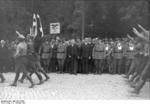 German SA men marching in Bad Harzburg, Germany, 11 Oct 1931