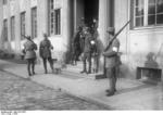 Nazi Party men with rifles near the border of Bavaria and Thüringen, Germany, 1923
