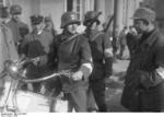German Nazi SA men with rifles and motorcycle, Neustadt, Bavaria, Germany, 1923