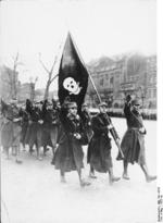 German Nazi SA men in parade, Braunschweig, Germany, 1923