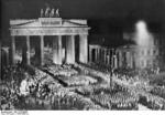 Nazi Party SA parade at the Brandenburg Gate, Berlin, Germany, 1930s