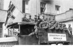 German Nazi SA men in parade on German Day in Bayreuth, Germany, 30 Sep 1923