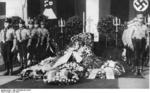 Funeral of aviatrix Marga von Etzdorf, Hamburg, Germany, 6-7 Jul 1933; note SS honor guard