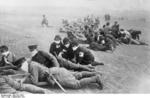 Japanese Army infantrymen and nurses on exercise, Sep 1931