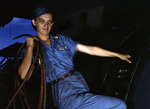 Lorena Craig working at the US Navy air station at Corpus Christi, Texas, United States, Aug 1942