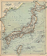 Map of Japan seen in