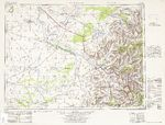 1950 US Army topographic map of Lamiin Süme region of Manchuria in China and of Mongolia