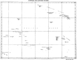 Map of the US Hawaiian Islands and the Outlying Islands