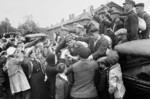 Villagers sending off conscripts, Russia, 2 Sep 1941