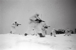 Soviet troops fighting near Staritsa, Russia, 1 Feb 1942