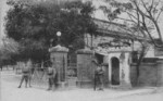 The entrance of the headquarters of 2nd Taiwan Infantry Brigade of the Japanese Taiwan Army, circa 1920