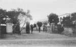 The entrance of the headquarters of the Mountain Artillery Brigade of the Japanese Taiwan Army, Taihoku, Taiwan, circa 1920